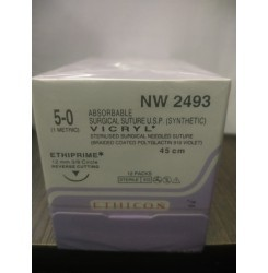 Ethicon Synthetic Absorbable (Polyglactin 910) Coated Vicryl (NW2493)