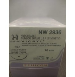 Ethicon Synthetic Absorbable (Polyglactin 910) Coated Vicryl (NW2936)