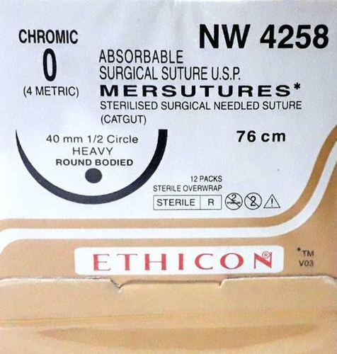 Ethicon Sterilised Surgical Gut Chromic (NW4258)
