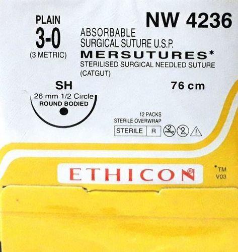 Ethicon Sterilised Surgical Gut Plain (Nw4236)