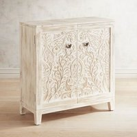 2Door Carved Wood Cabinet