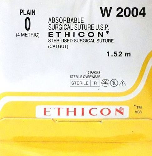 Ethicon Sterilised Surgical Gut - Plain (W2004)
