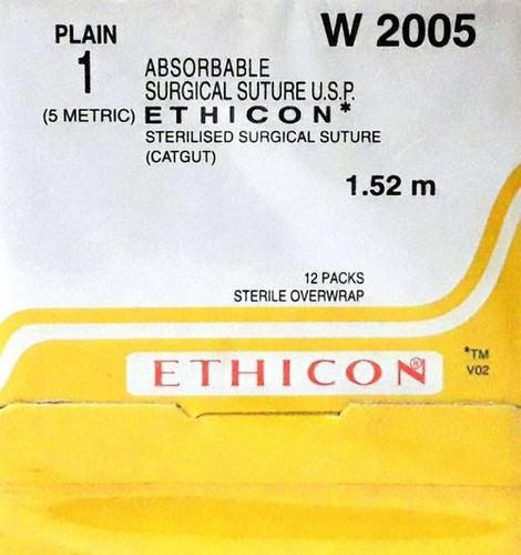 Ethicon Sterilised Surgical Gut - Plain (W2005)