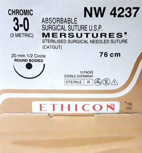 Ethicon Sterilised Surgical Gut Chromic (NW4237)