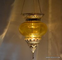 Yellow Wall T Light Hanging For Home Decor