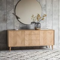 2 DOORS 3 DRAWER WOODEN SIDEBOARD