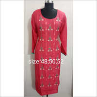 Embroidered Kurti Reyon size available , full size as mention