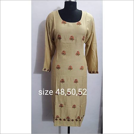 Embroidered Kurti Reyon size available , S, M, L