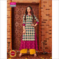 Ladies Full length Fancy Kurti Set
