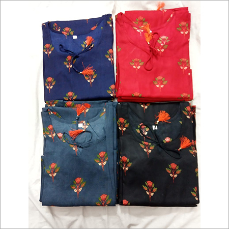 Printed Kurti in Four Color Set Size , M, L, XL, XXL