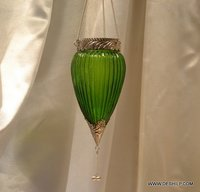 Green Color T Light Candle Hanging