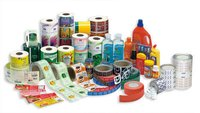 Flexo roll form sticker labels