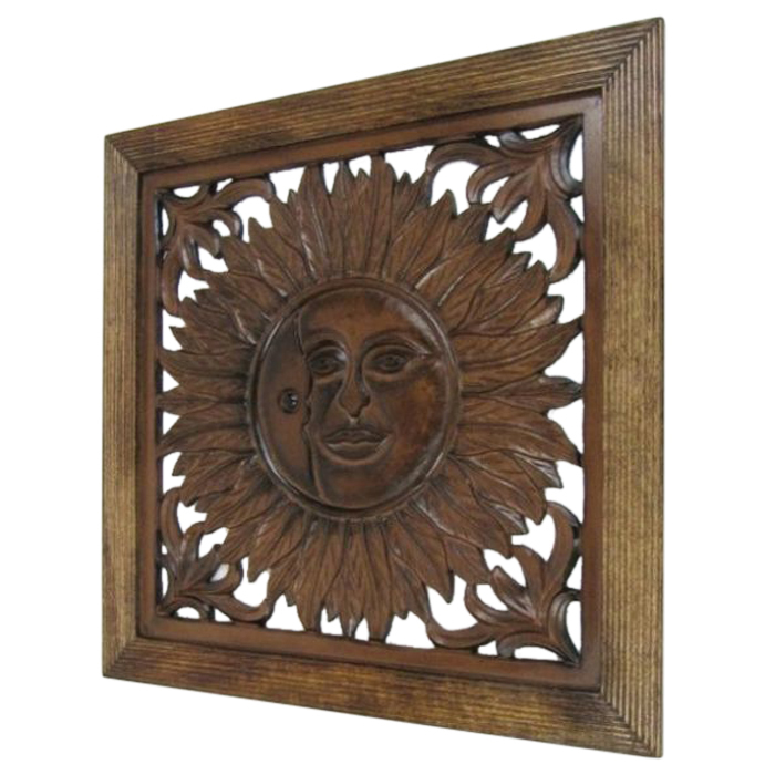 Wooden Wall Panel Wall Hanging Sun