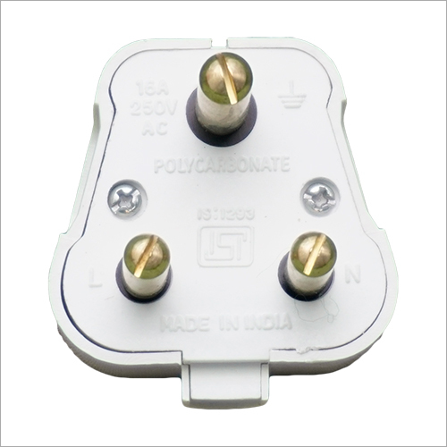 5 Amp Plug Top Round 3 Pin Plug