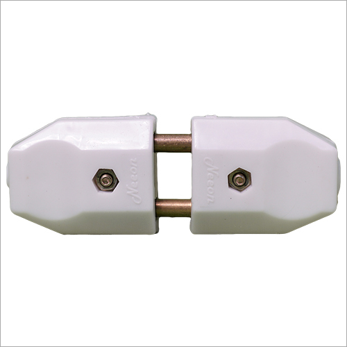 White Plastic 2 Pin Electrical Plug