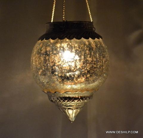 Creak Glass Silver T Light Candle