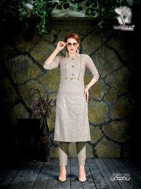 Designer Cotton Kurti with Pant