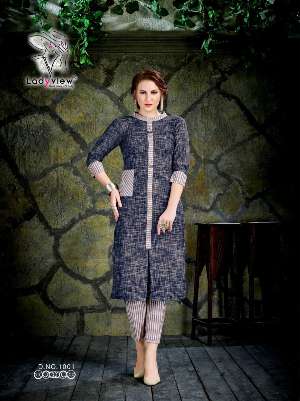 Designer Cotton Kurti with Pant