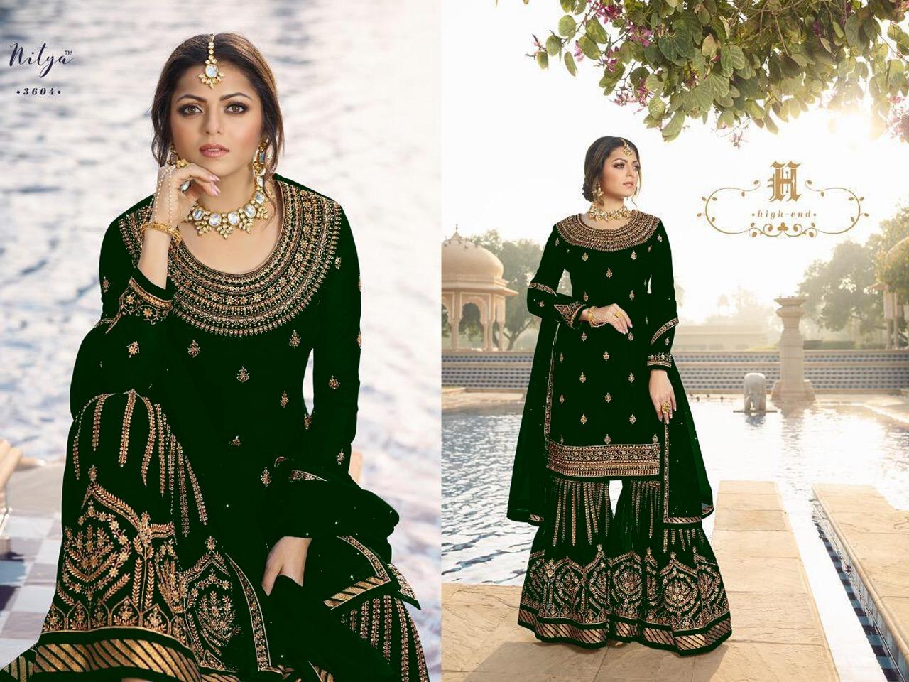 Designer Heavy Embroidered Gharara Suit