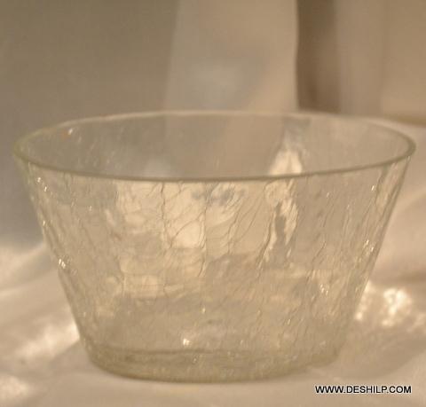 Creack Glass Clear Bowl