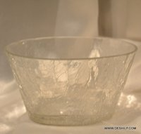 Creack Glass Clear Bowl