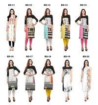 Designer Crepe Kurti, Printed Kurti, Casual Wear Kurti