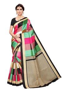 Designer Khadi Silk Saree, Checks Design Saree