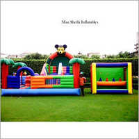 Amusement Mickey Mouse Inflatable Slide Castle