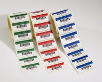 COLOR BARCODE STICKER ROLE