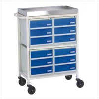 Medicine Trolley 12 Drawers