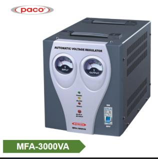 Automatic Voltage Stabilizer a   meter display 3000VA
