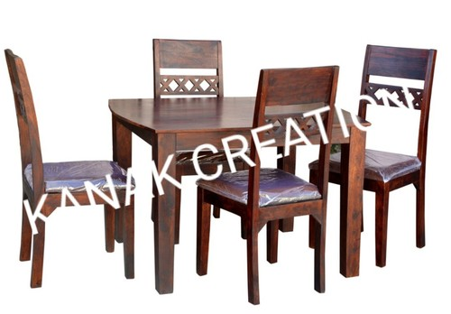 wooden dining set with four chair