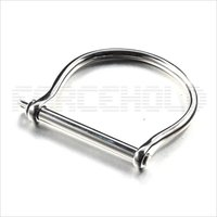 Stainless Steel horseshoe d shaped bolted switch bangle