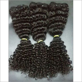Black Deep Curly Human Hair Extension
