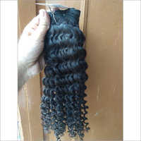 Black Indian Curly Hair Extension