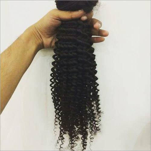 Black Kinky Curly Human Hair Extension