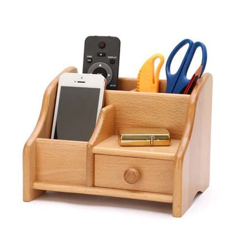 SMALL TABLE SHELT WOODEN STORAGE BOX
