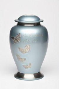 New Avondale Brass Urn with Butterflies