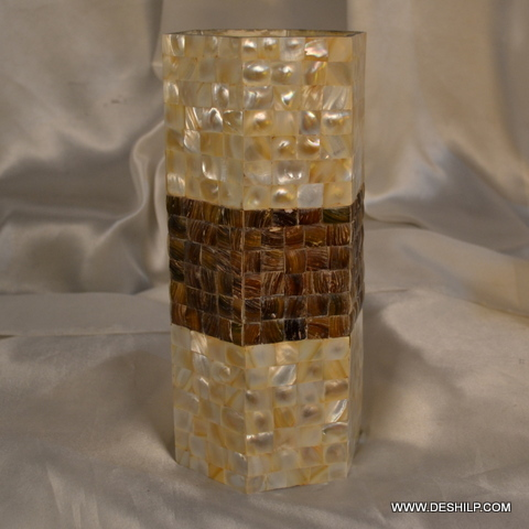 Long Glass Seap Flower Vase
