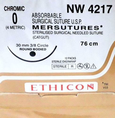 Ethicon Sterilised Surgical Gut Chromic (NW4217)