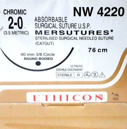 Ethicon Sterilised Surgical Gut Chromic (Nw4220) Ethicon Sterilised Surgical Gut Chromic (Nw4220)
