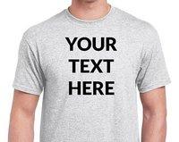 Custom Round Neck T-shirt  -------   Rs 70/ Piece