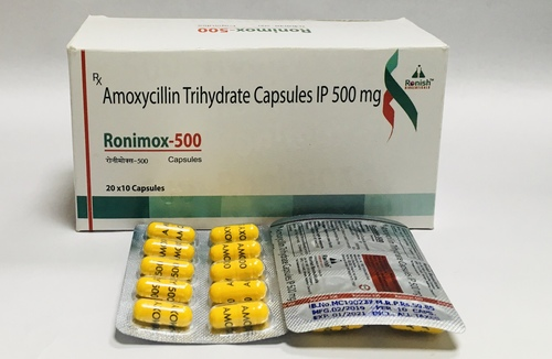 AMOXYCILLIN TRIHYDRATE CAPSULES 500 MG