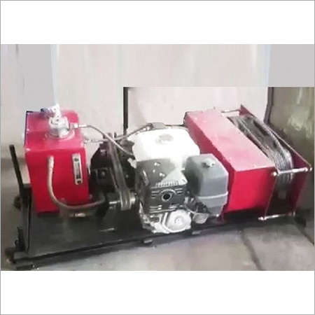 Portable IC Engine Powered Hydraulic Winch