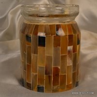 Mosaic Handmade Glass Jar