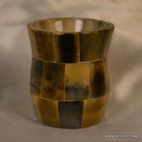 Seap Glass Antique Candle Holder