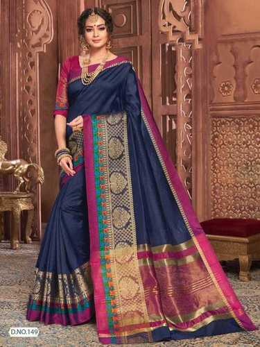 Designer Cotton Silk Saree, Partywear Saree
