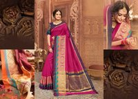 Bridal Saree Designer Cotton Silk Saree