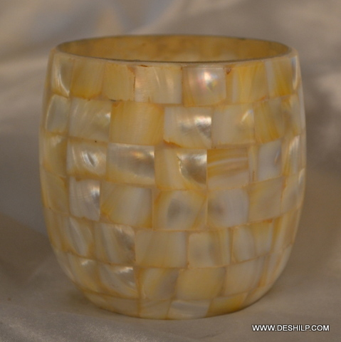 Antique Seap Glass Candle Holder
