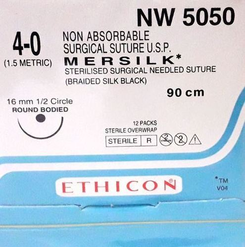 Ethicon - Mersilk ( Black Braided Silk With Needle Suture ) (Nw5050)
